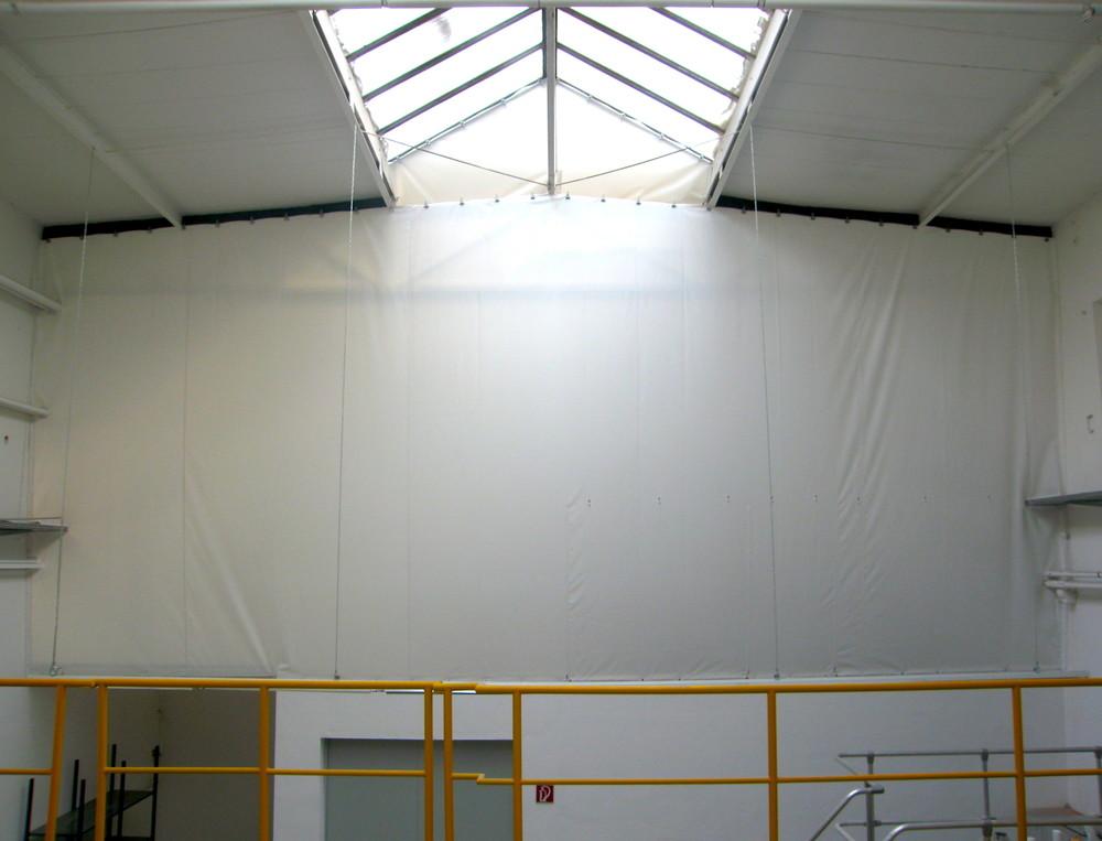 Hallentrennwände für Industrie, Werkstatt, Gewerbe   Relais Textilien