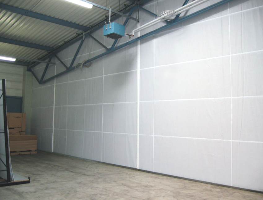 Schallschutz-Trennwände   Relais Textilien