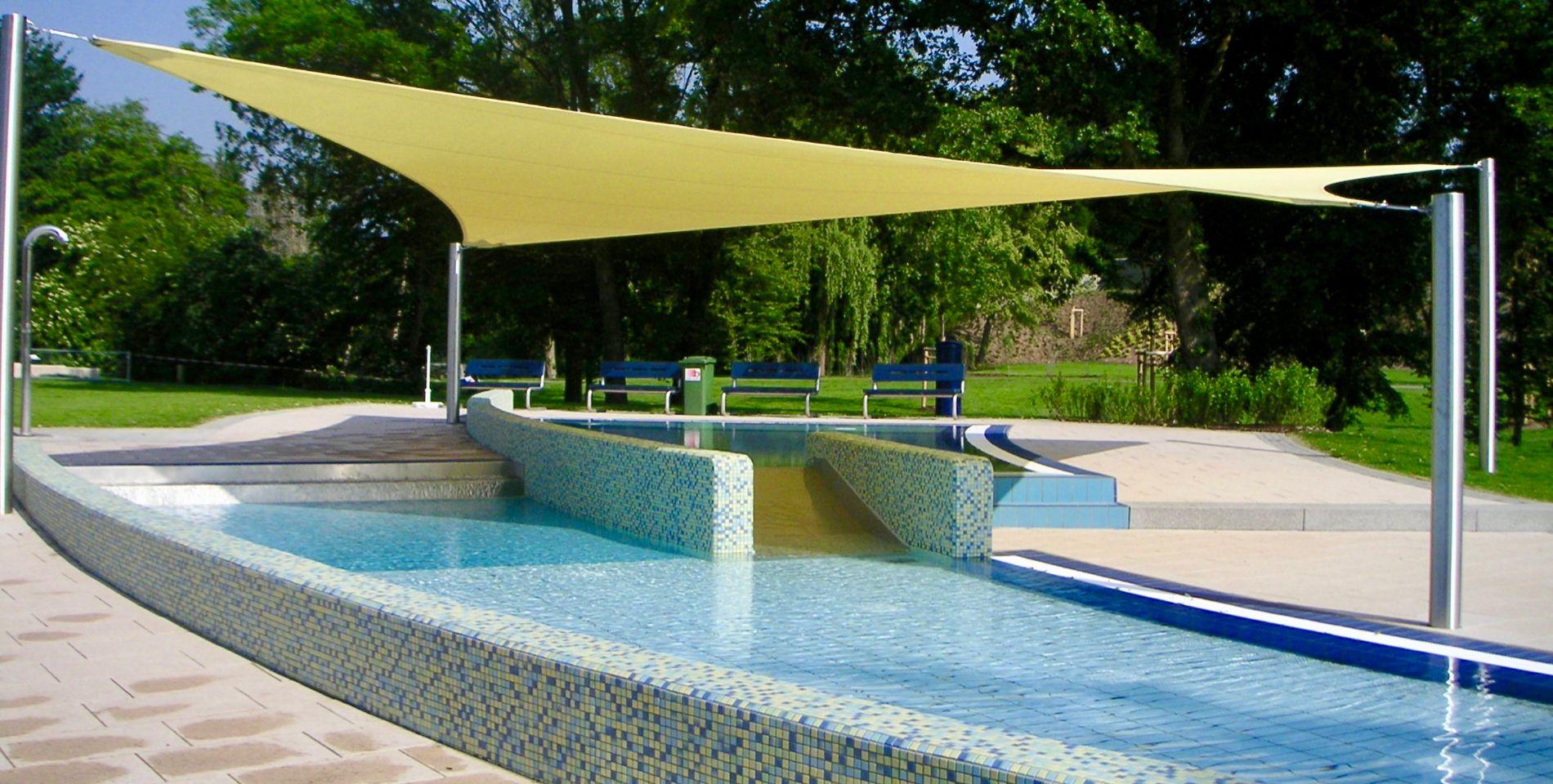 Sonnensegel Fur Schwimmbad Pool Wellness Relais Textilien